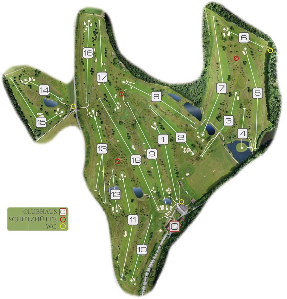 platz bersicht golfclub johannesthal. Black Bedroom Furniture Sets. Home Design Ideas
